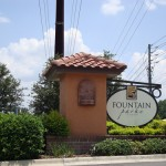 Fountain Park Community Sign