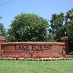 Lake Forest Community Entrance