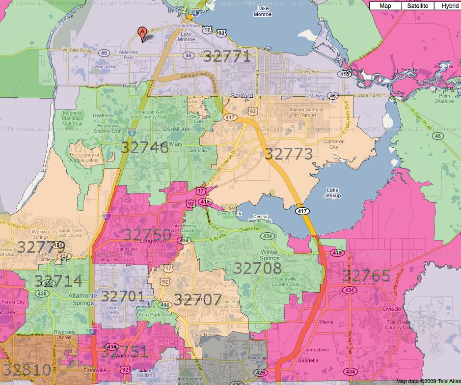 Orlando Florida Zip Code Map.32746 Zip Code Map Mount Mercy University