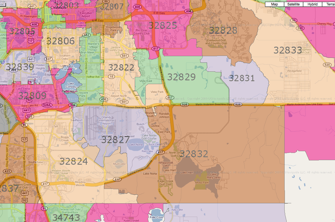 Orlando Florida Area Code Map.32803 Zip Code Mount Mercy University