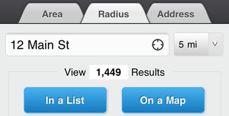 Radius Home Search