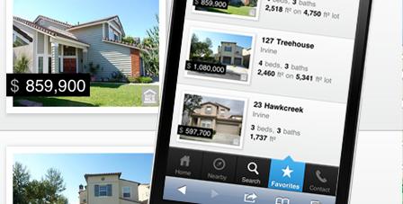Favorite Homes List on Phone