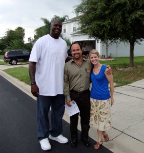Shaq, Jose and Mel in Lake Mary