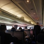 Inside the Amtrak train