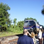 Train arrives in Deland