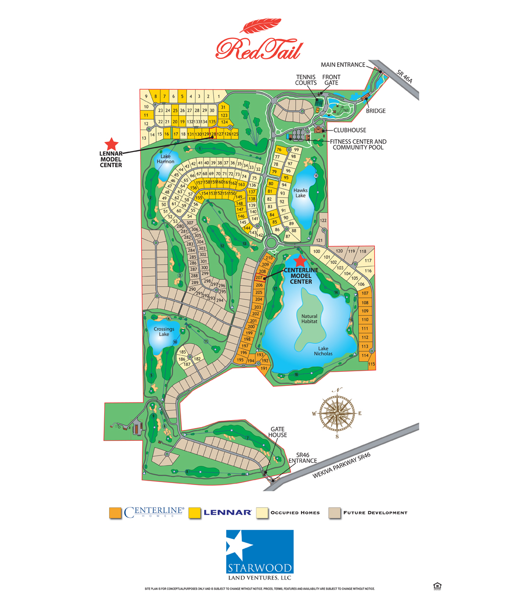 Construction Site Map: Redtail Golf Club Sorrento Homes For Sale