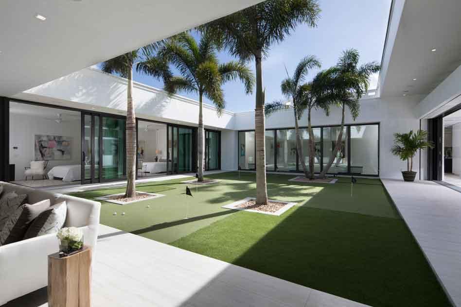 Palm Court courtyard