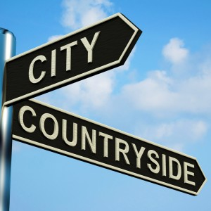 City or Countryside Sign